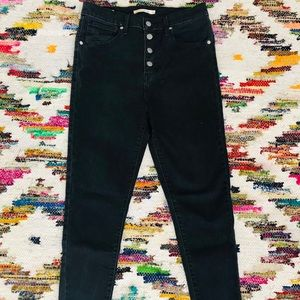 Levi's Mile High Skinny Button Fly Jeans